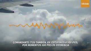 Video pelea en un avión en el aire