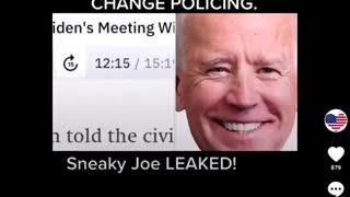 Joe Biden Leaked Audio Call - Defund The Police