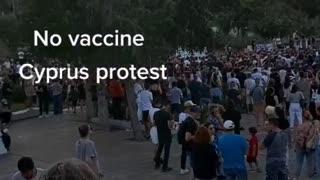 Covid 19 No vaccine protest cyprus