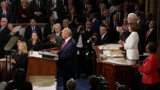 Anécdotas del discurso del Estado de la Unión de Trump
