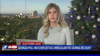 Ga. poll watcher details irregularities during recount