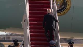 Biden fails Air Force steps