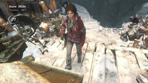 Rise of the Tomb Raider PS4 DLC Score Attack, Lost Expedition, maximum all items collection combos.