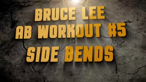 Bruce Lee Abs exercises
