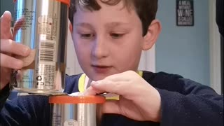 Young Magician Stuns Dad With Magic Can Trick