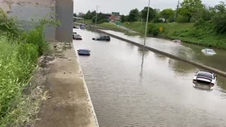 Dozens of people rescued from cars after flooding in Metro Detroit