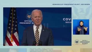 Biden calls Kamala President Elect.