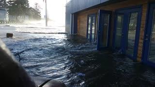 Huge Tide Destroys Beachside Bar