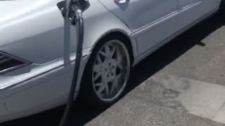 Driver Takes Off with Pump Hose and Handle