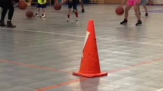 Dribbling Drill with Pivot