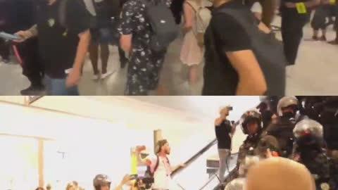 Protester in Paris Mall Enter w/o Vaxx Pass