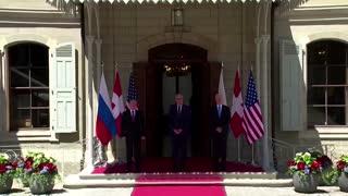 Biden and Putin shake hands before Geneva summit