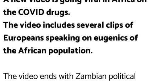 """Africa Zambian Leader Dr. Mumba Refuses COVID Drugs After Marked """"Not for Use in EU or USA"""