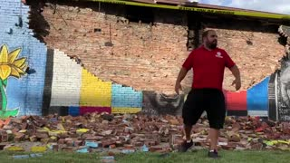 George Floyd Mural Is Struck and Destroyed By Lightning In Toledo