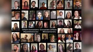 Lockdown Choir Members Sing Hallelujah For COVID Heroes