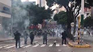 Enfrentamientos con el Esmad en Bucaramanga