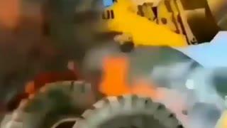 Tracker Tire Explodes