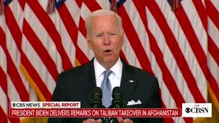 Biden Address Nation On Afghanistan