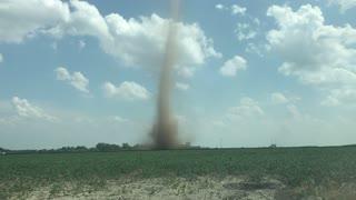 Rare Dust Devil in Iowa