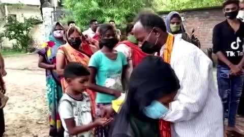 Indian village builds 'goddess corona' temple