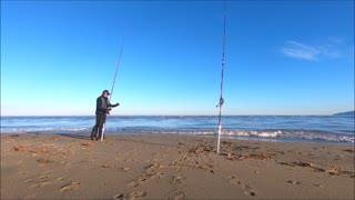 Ψάρεμα λαβράκι σε ακροβάτη