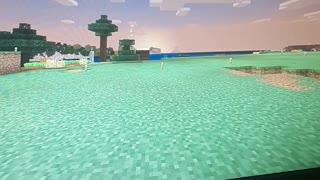 Beautiful Minecraft Sunset