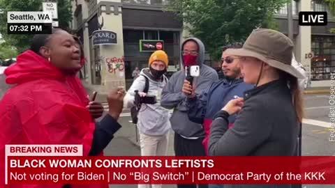 Black Woman Confronts Leftists