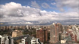 The clouds in Santiago, Chile