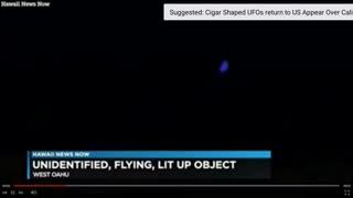Hawaii Alerts FAA After Sightings of Blue Ufo!