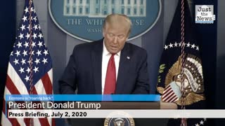 Trump touts June jobs report
