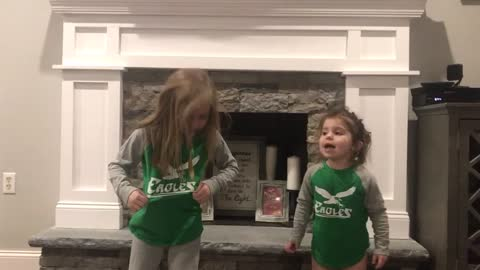 Cutest Eagles Fight song Ever!