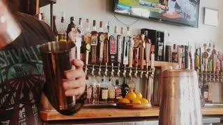 Bartender Mixes Up Some Magic