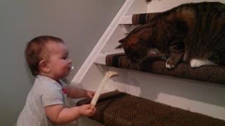 Baby Alexandra and Colombo