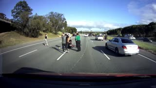 Sudden Lane Change Leaves Motorcyclist Unprepared