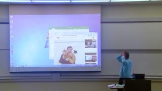 Professor Fixes Projector Screen