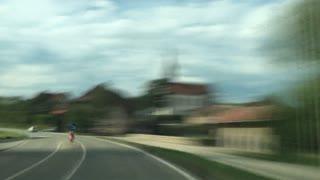 Dash Cam Speeding though the Country