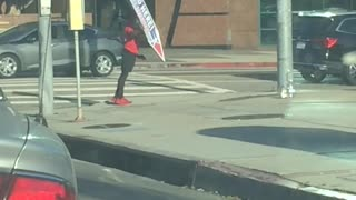 This Sign Spinner Has Major Talent