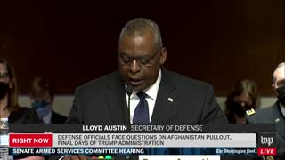 Lloyd Austin admits Americans are still trapped in Afghanistan.