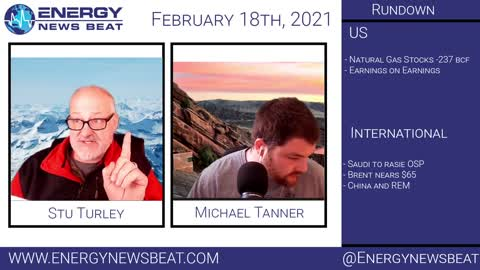 Daily Energy Market Show With Michael Tanner 2-19-21