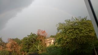 Rainbow appears when sunny