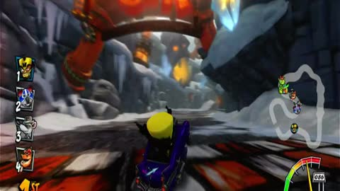 Meteor Gorge Nintendo Switch Gameplay - Crash Team Racing Nitro-Fueled