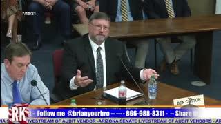 Arizona state senate hearing on the 2020 election audit