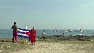 Cubans stage boat protest against U.S. sanctions