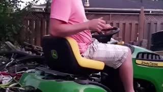 Riding Mower Fail
