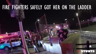 Stunt Riders Save a Woman From Suicide Attempt Off Overpass Bridge