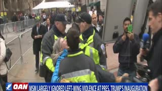 MSM largely ignored left-wing violence at President Trump's inauguration