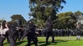 Crazy Video Shows Australian Riot Police Violently Break Up Anti-Lockdown Protest