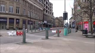 Sheffield city centre 3pm Saturday roads blocked off