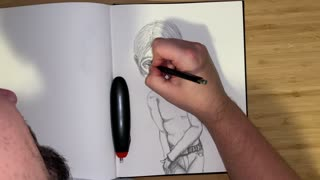 Drawing with Friends: A candid chat while creating a male character.
