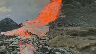 Newest volcano collapsed! spewing lava? 🌋
